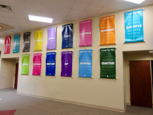 Camp Oak Hill Conference Center Hallway Banners