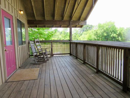 Camp Oak Hill Cabin Lakeside Porch